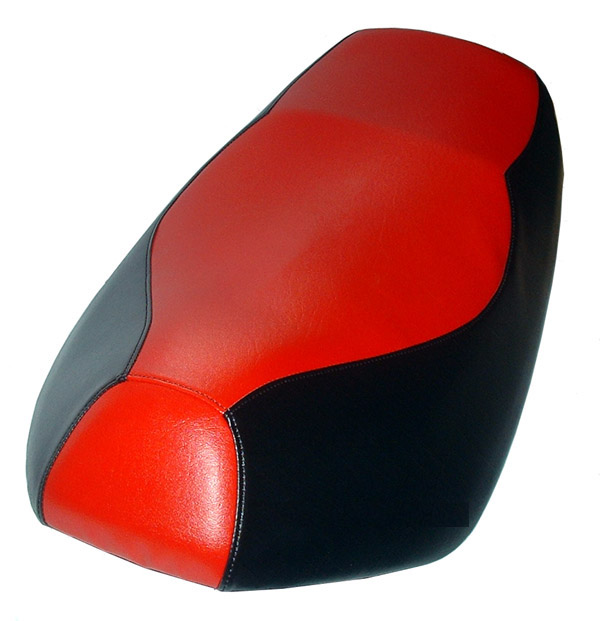 Red and Black Yamaha Zuma 50 seat cover Scooter