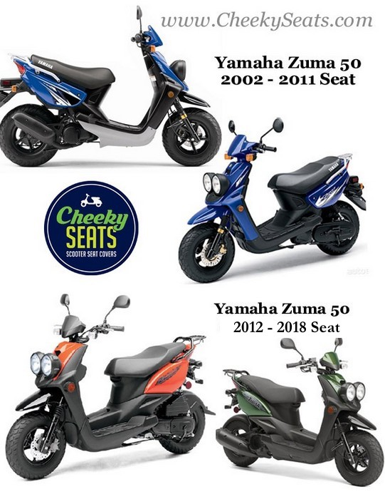 yamaha zuma seat cover 50 classic black waterproof scooter