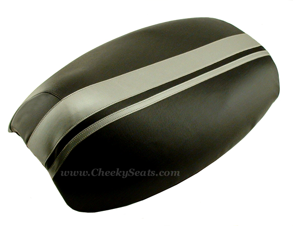 Dual Racing Stripes Yamaha Vino 125 Scooter Seat COVER