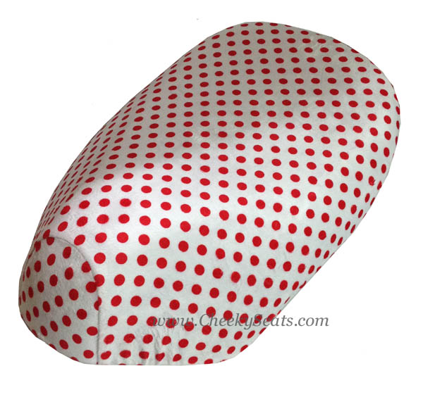 TOP LOOK! Polka Dots Scooter Seat Cover Minky