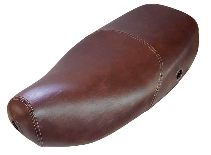 Vespa LX Distressed Whiskey Faux Leather Scooter Seat Cover