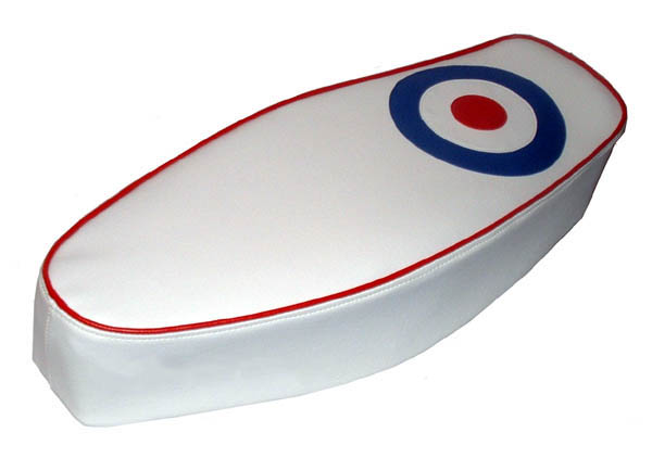Mod Target RAF Roundel British Scooter Seat Cover Vintage Style
