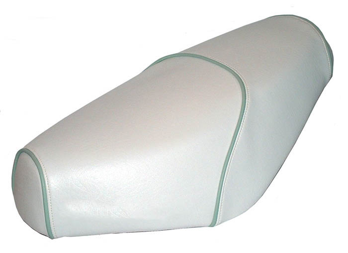 Cottage White Genuine Buddy seat cover, Choose Your Own Piping!