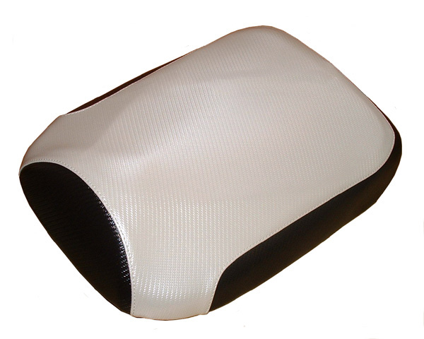 Honda Ruckus Scooter Seat Cover White Carbon Fiber
